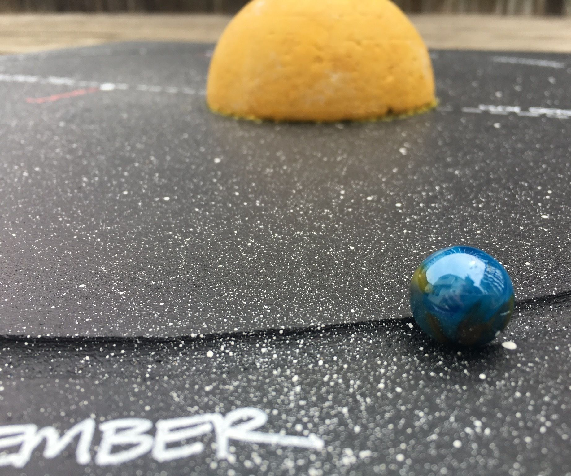 Earth's Elliptical Orbit Marble Model