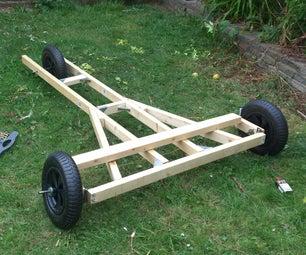 Wood Chassis for 3-wheeled Soapbox Kart