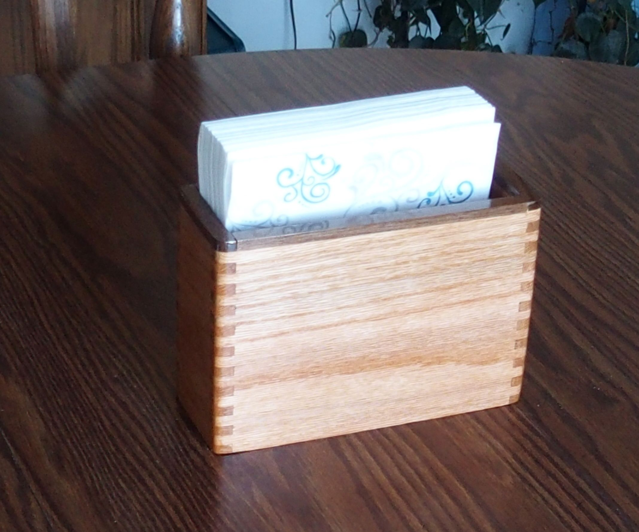 Oak Napkin Holder 3 Steps With Pictures Instructables