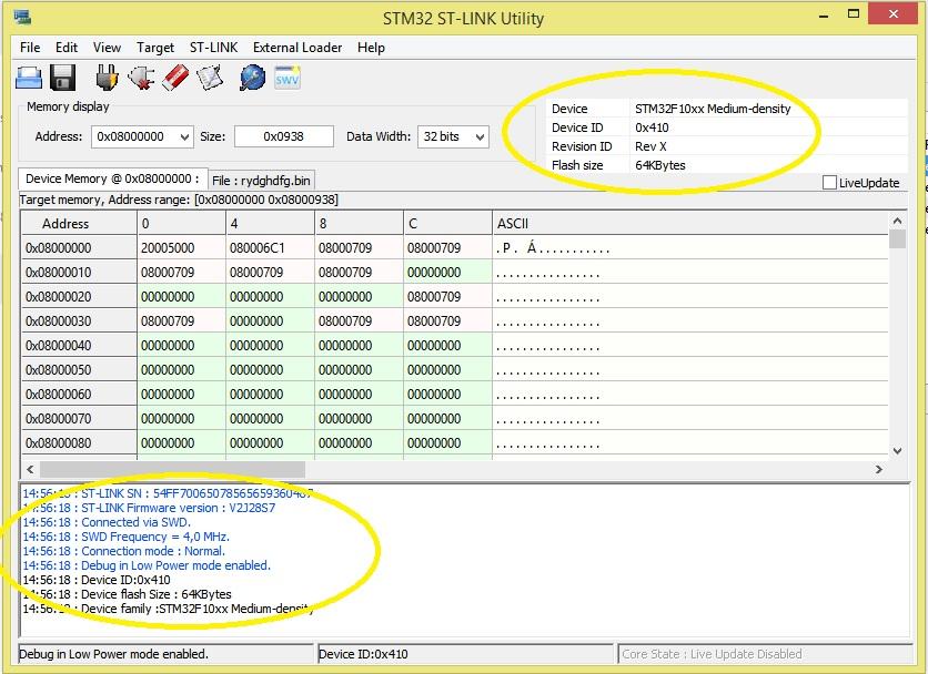 STM32F103C8X Minimal Development Board + ST Link V2 + STM Workbench