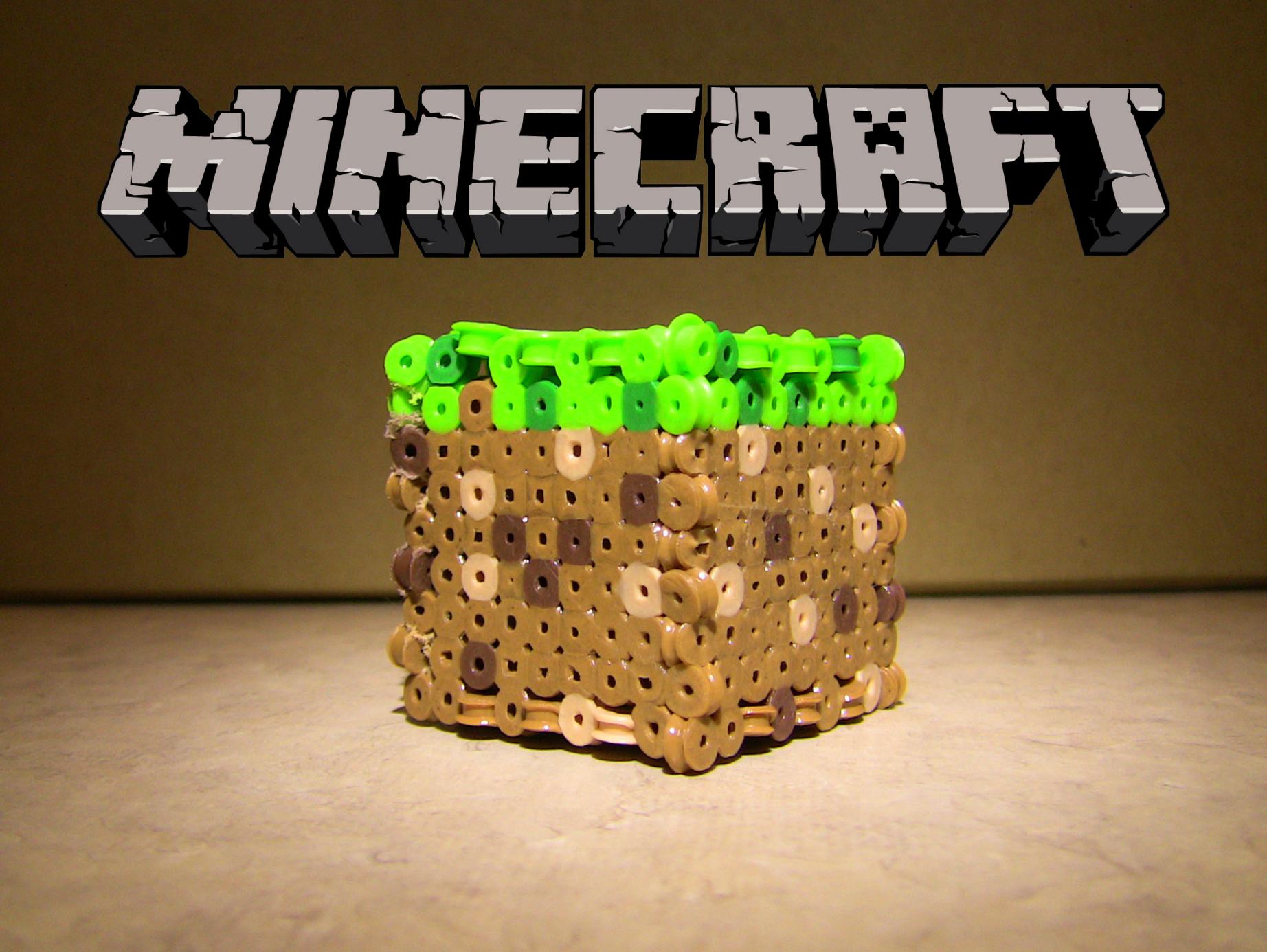 Perler Bead Minecraft Block