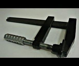 Homemade Heavy Duty  F Clamp With Hex Nut Handle