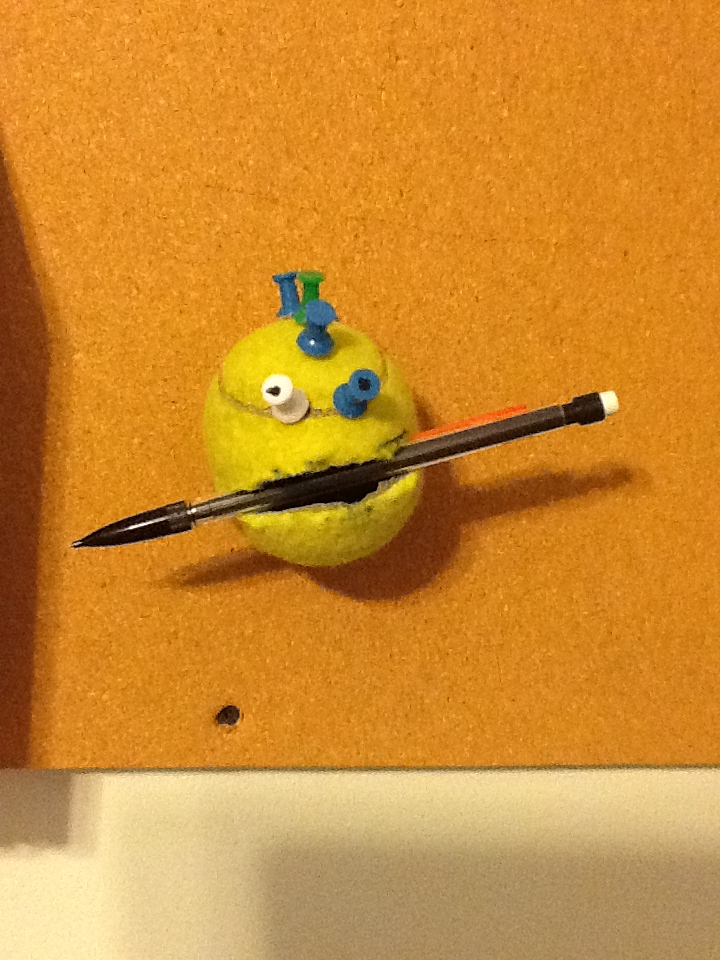 Easy Tennis ball Pencil/ Pen holder