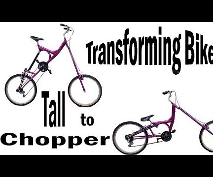 Transforming Bicycle! Tall Bike to Chopper Bike