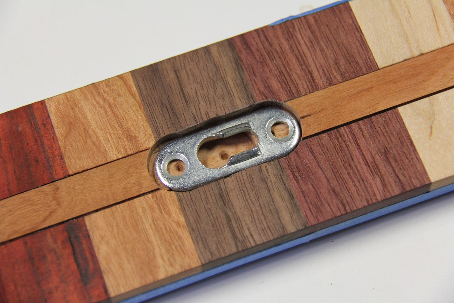 Use Chisel to Finish Cut Outs for Hanging Bracket
