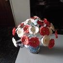 Water bottle flower bouquet
