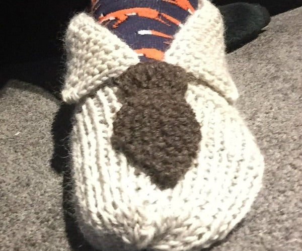 Knit 'Shirt and Tie' Slippers