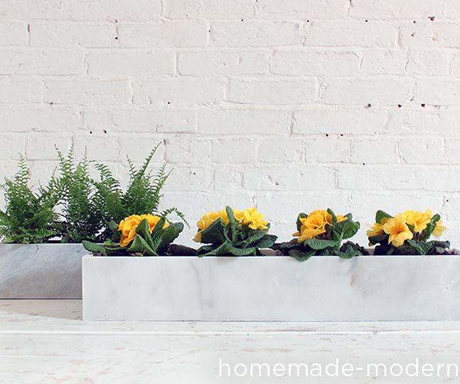 HomeMade Modern DIY Marble Planters