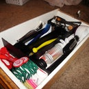 DIY drawer organizers made from cardboard and contact paper