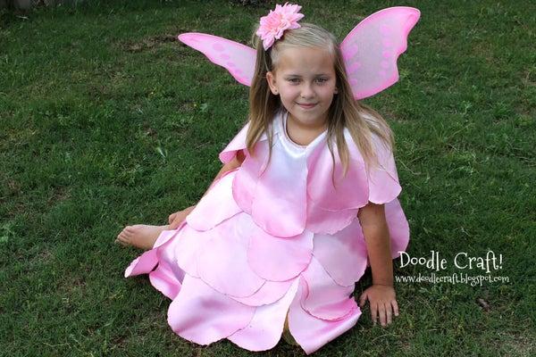 Dip Dyed Ombre Rose Petal Fairy Dress!