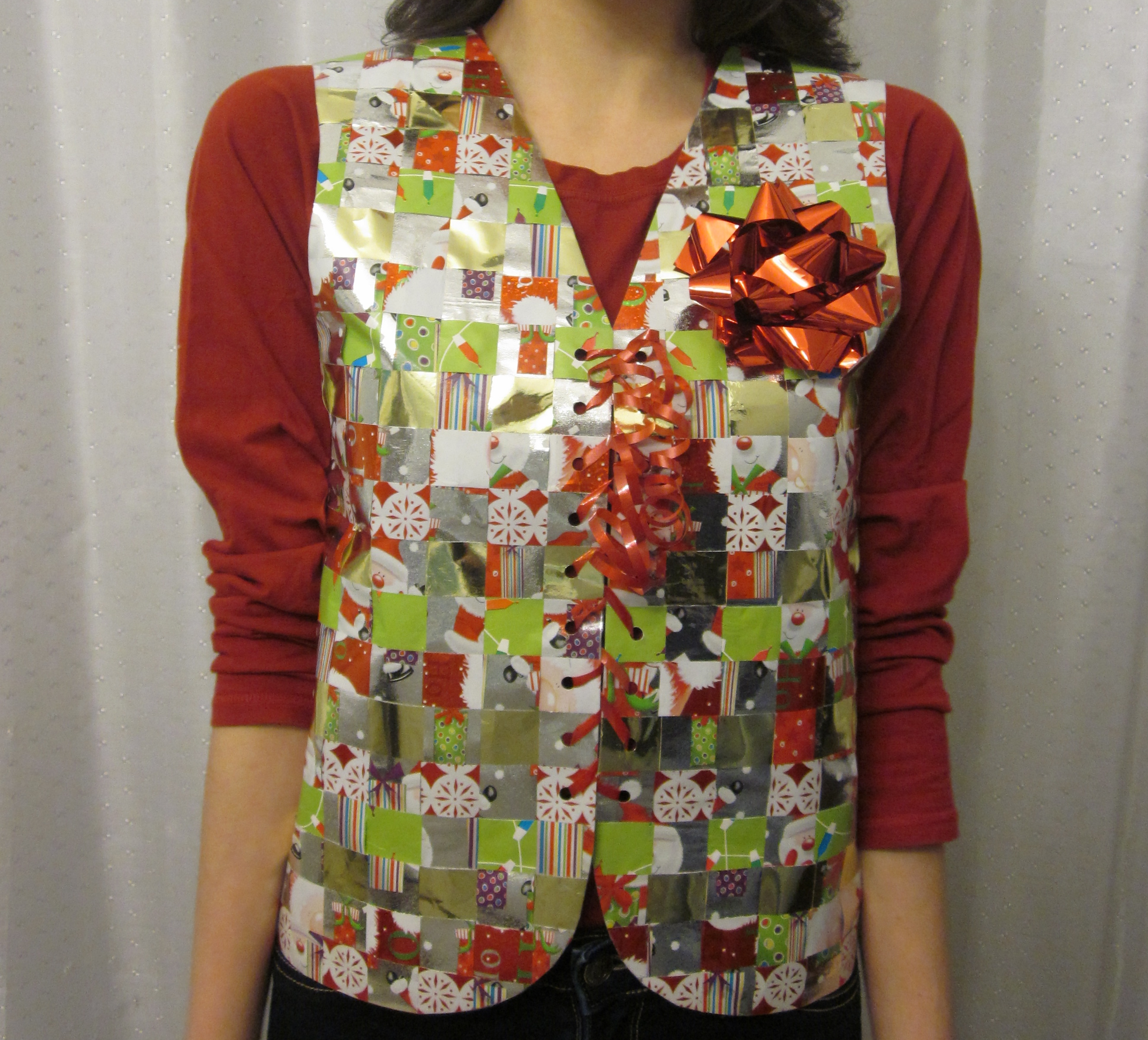 Recycled Woven Gift Wrap Vest