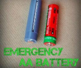 Emergency Mg/Cu Galvanic AA Battery