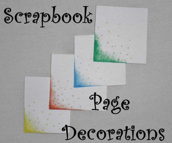 Scrapbook Page Decoration