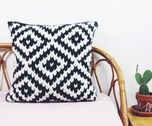 Chunky Jacquard Pillow Knitting Pattern