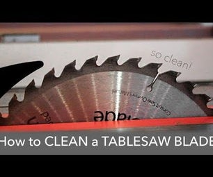 How to Clean a Table Saw Blade