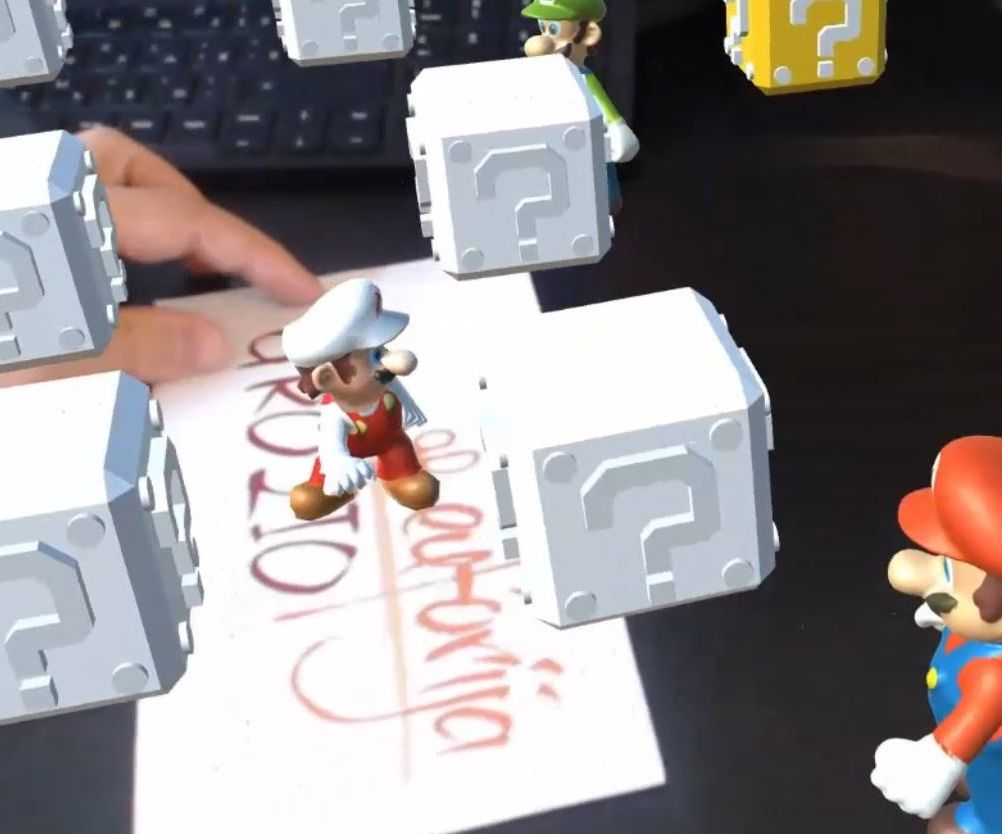 Augmented Reality Super Mario