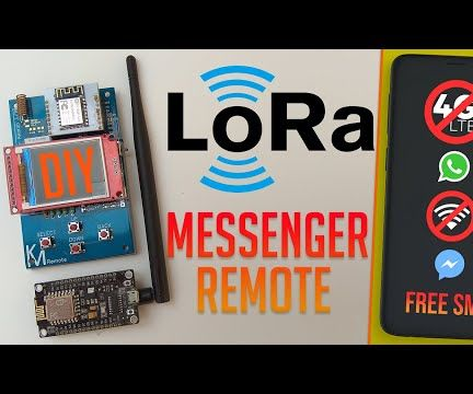 "LoRa Remote Control Messenger With a 1.8"" TFT for Distances Up to 8km"
