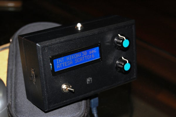 Arduino Intervalometer for Nikon D40
