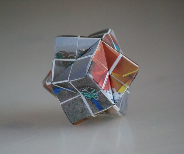 Origami Picture Puzzle Stellated Octahedron