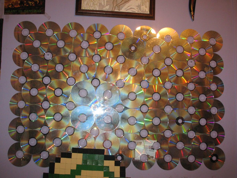 Mini CD Wall Mirror Decoration