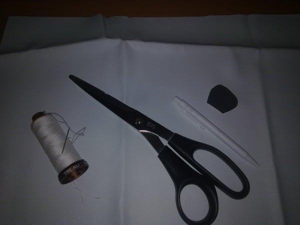 White Leather Hairband