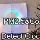 How to Make MP2.5 & Co2 Detect Wall Clock for Indoor Using Arduino, MG811, GP2Y1014AU Sensor
