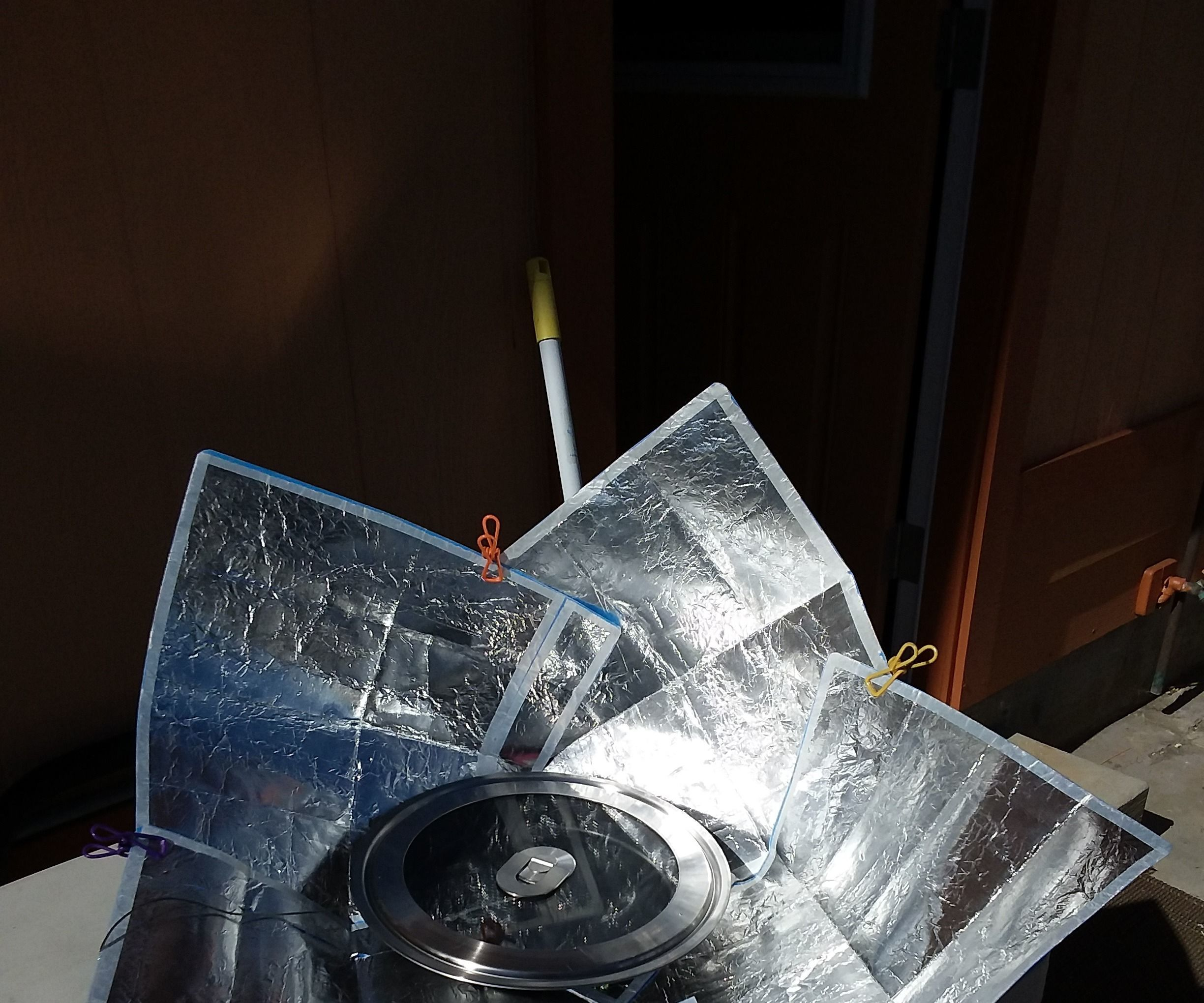 Pocket Solar Cooker Full Size Taped and Repurposed
