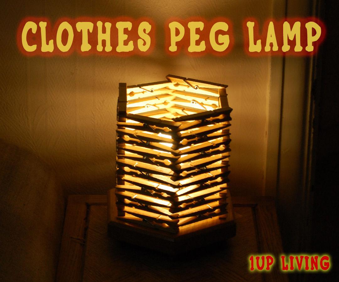 Clothes Peg Table Lamp