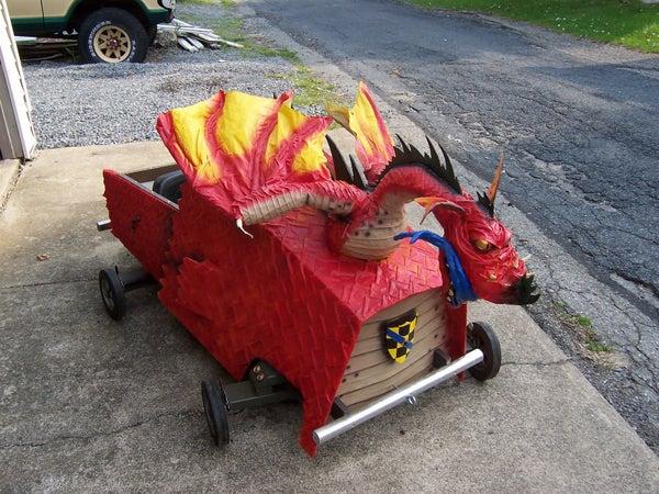Medieval Dragon Soapbox Derby Car