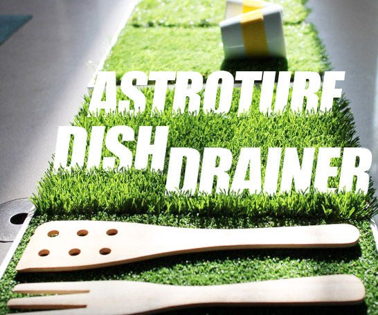 Astroturf Dish Drainer