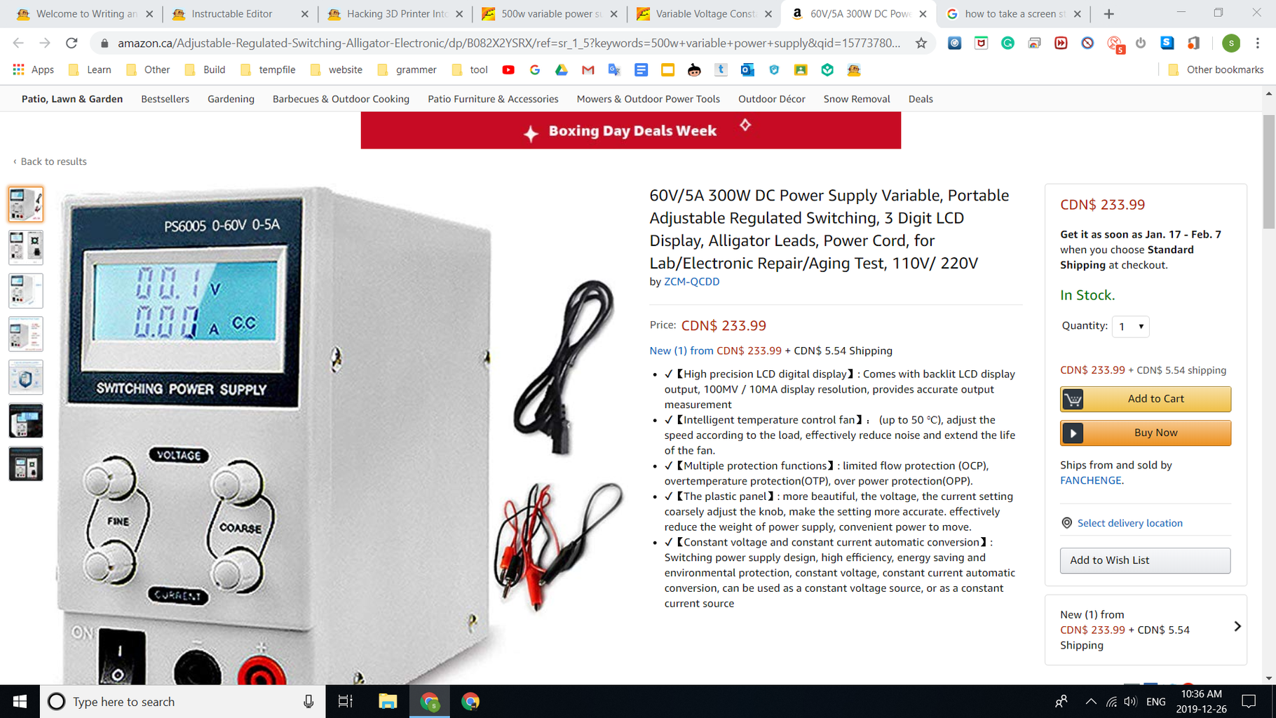 Build Variable Bench Power Supply (500W) for Only $17