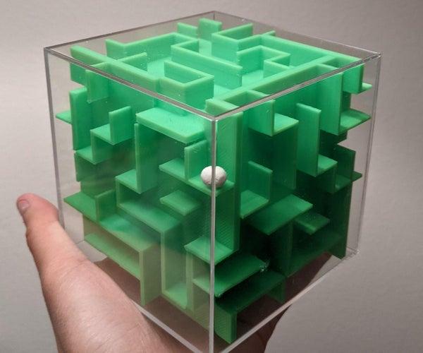 3D Printed Maze Cube