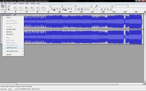 Splitting Stereo Track