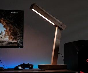 Easy Wooden Desk Lamp