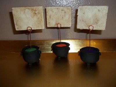Cauldron Place Card Holders