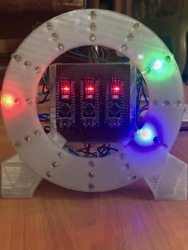 3D Printed Flashing LED Dial Clock