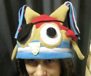 Fleece Pirate Owl Hat