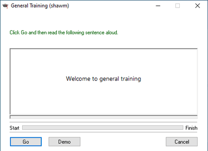 Training Will Now Begin...