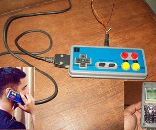 Another Game Controller Mod. Nes-Phone / Nessy Phone. From Nes Controller (Or Any Controller) & a Donor Cellphone.