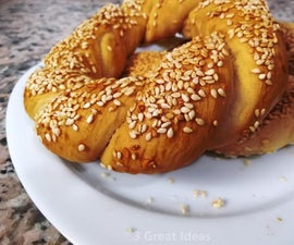 Delicious Turkish Simit - Bagel, Real Recipe
