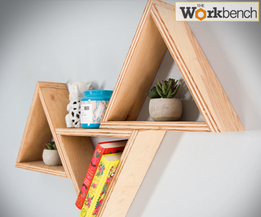DIY TRIANGLE SHELVES < $20