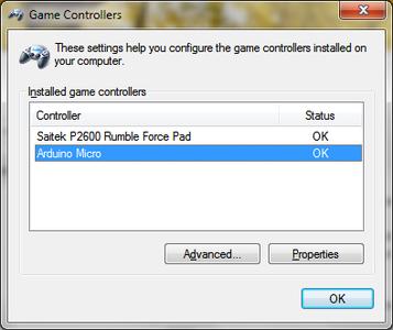 Game Controller Settings