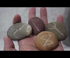 DIY Runic Stones From River Rocks