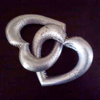 Entwined Aluminum Hearts