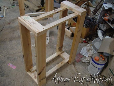 Step 8. - Cut Out Wood Stand Wood & Assemble Wood Support Stands