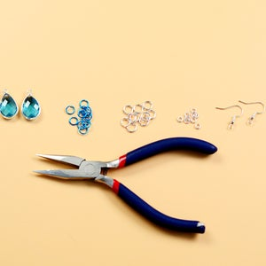 Jewelry Craft Supplies Needed to Make the Crystal Earrings: