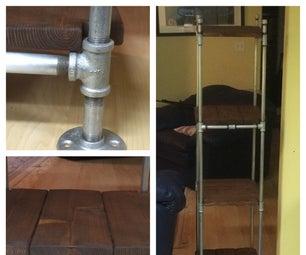 Cedar Shelves on Galvanized Pipe Frame