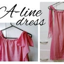 A-line dress with bows as straps