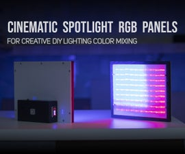 Cinematic Spotlight RGB Panels for Creative DIY Color Mixing