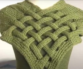 Braided Celtic Knot Scarf Knitting Pattern